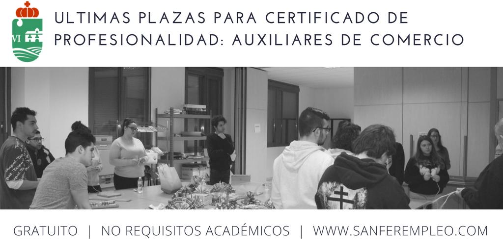 Ltimas plazas para el certificado de profesionalidad for Oficina padron madrid
