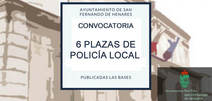 Convocatoria 6 plazas policía