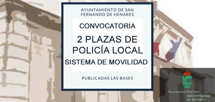 Convocatoria 2 plazas policía
