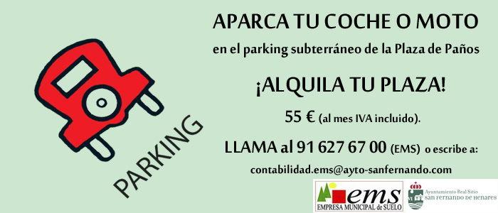 ¡ALQUILA! Plaza de Garaje por 55 € al mes en Parking de la Plaza de Paños
