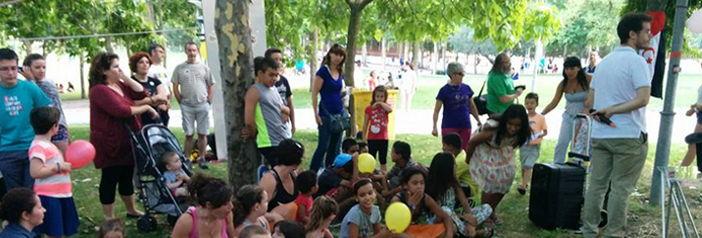 Fiesta de recepción a los/as niños/as saharauis con sus familias de acogida en San Fernando