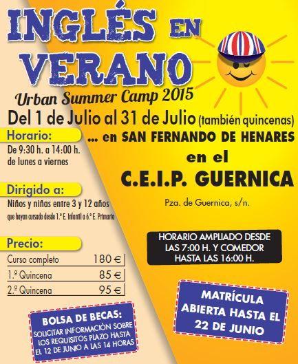 Campamentos ingles en verano