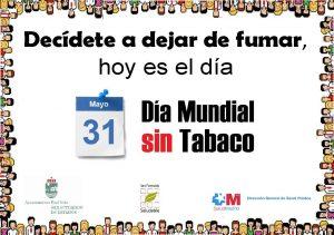 día internacional sin tabaco 31 de mayo 2016