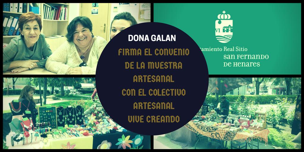Dona Galan firma un Convenio con el Colectivo Artesanal Vive Creando