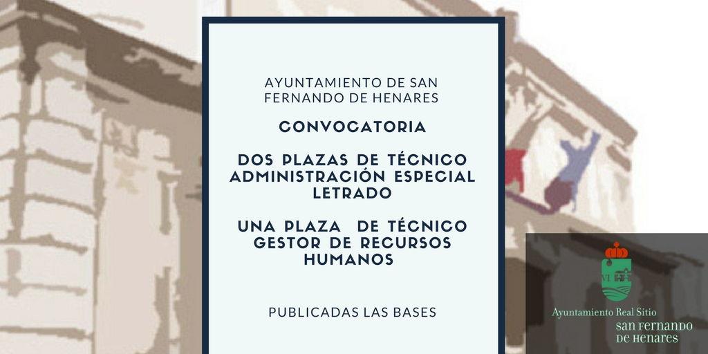 Anuncio Evaluación de la fase de concurso y resolución de las pruebas selectivas para la provisión de dos plazas de Técnicos de Administración Especial letrados
