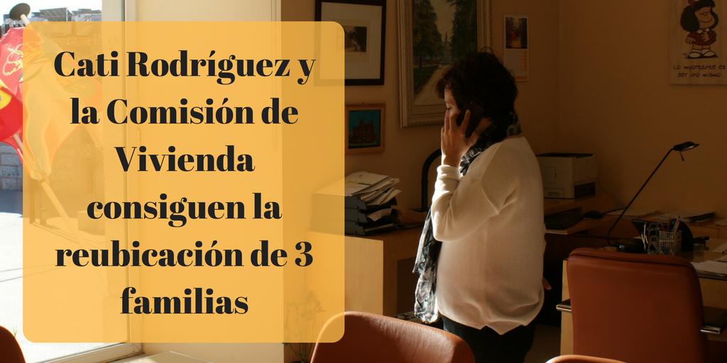 Cati Rodríguez y la comisión de vivienda consiguen que la SAREB reubique a las familias que iban a ser desahuciadas