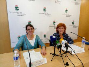 Presentación de la Campaña Conéctate a la Línea Verde. De izq a der; Elena Moya, Técnico de Medio Ambiente y Dona Galán, Concejala de Medio Ambiente