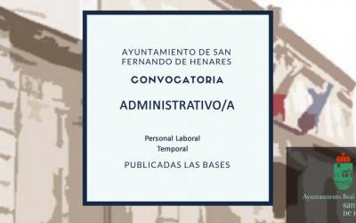 Resultado definitivo de la provisión con carácter temporal de una plaza de personal laboral Administrativo/a.
