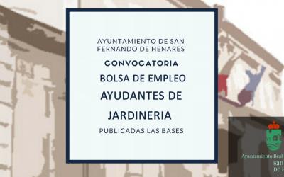 Decreto funcionamiento de la bolsa de empleo de Ayudantes de Jardinería