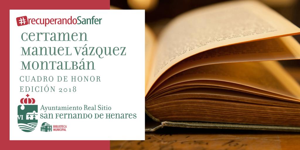 Ganadores y ganadoras del Certamen literario Manuel Vázquez Montalbán