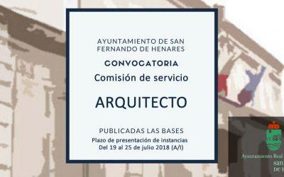 Convocatoria pública plaza temporal de Arquitecto – desierta