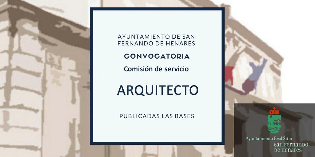 Plaza de arquitecto en comisión de servicios : convocatoria desierta