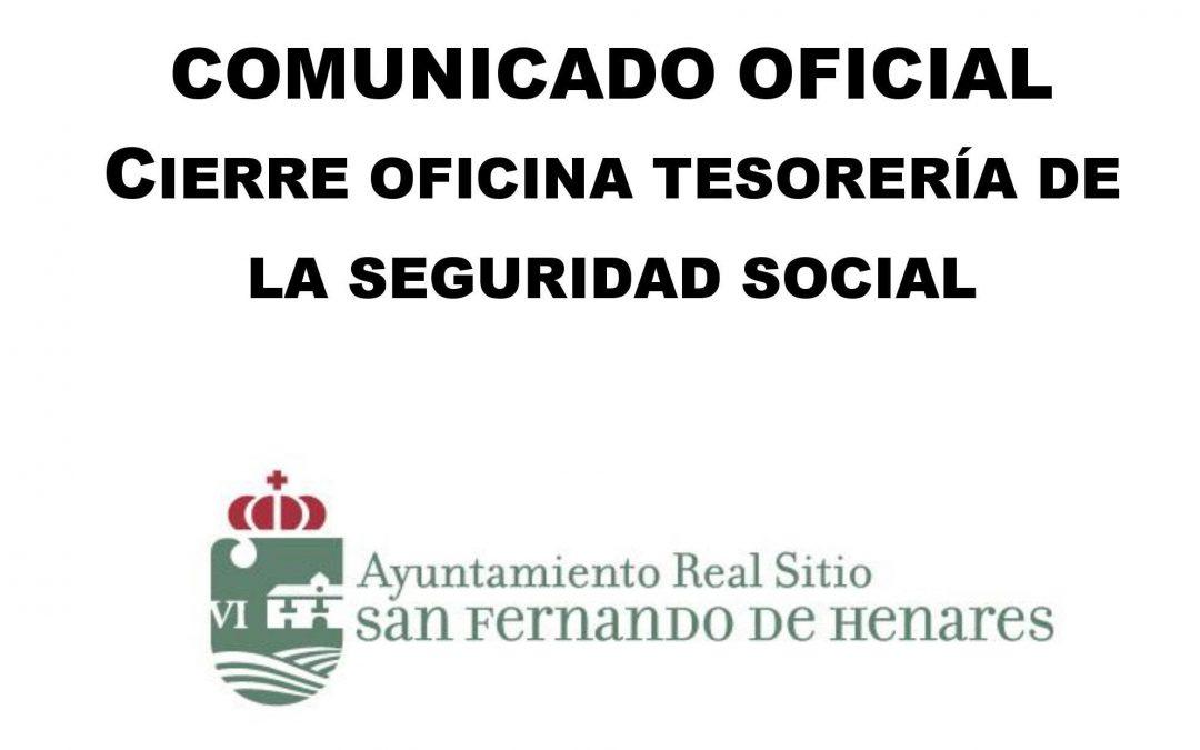 El equipo de Gobierno muestra su total rechazo al cierre de la oficina de la Tesorería de la Seguridad Social