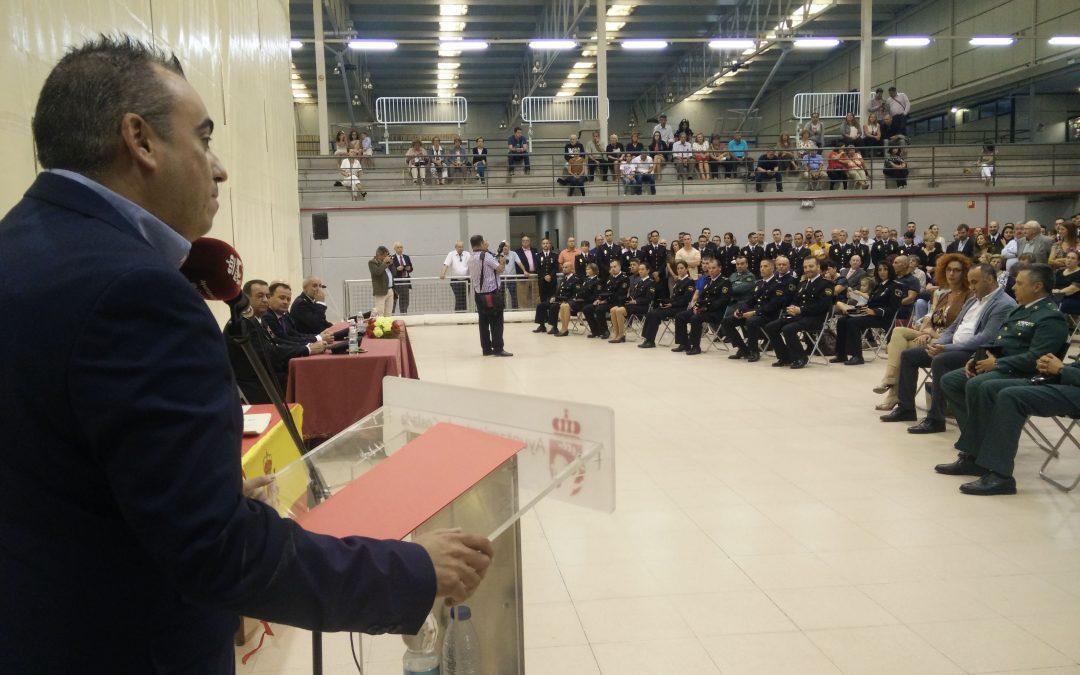 """Javier Corpa: """"Nuestra ciudad es una de las más seguras gracias a la estrecha y ejemplar colaboración entre Policía Local y Nacional"""""""