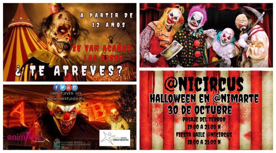 Un pasaje del terror ambientado en un siniestro circo abrirá sus puertas por Halloween en @nimarte