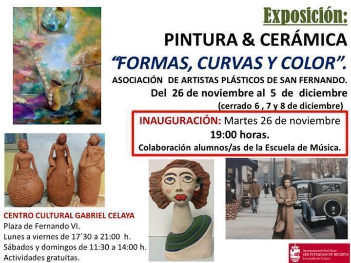 'Formas, curvas y color', la nueva exposición de la Asociación de Artistas Plásticos