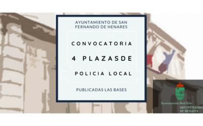 Convocatoria 4 plazas Policía Local – Resultados definitivos de pruebas físicas y desestimación – Concurso-oposición en Turno libre
