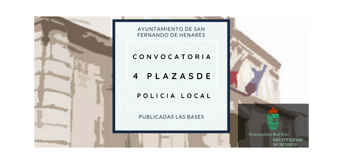 Convocatoria 4 plazas Policía Local – Listado provisional admitidos y excluidos – Concurso-oposición en Turno libre