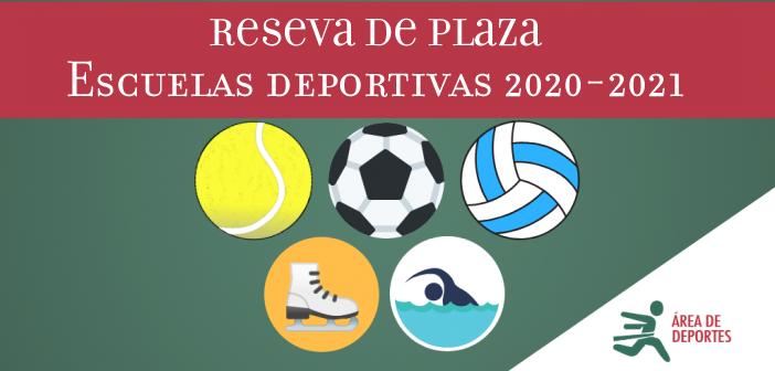 Reserva de plaza Escuelas Deportivas Municipales de Adultos temporada 2020-2021