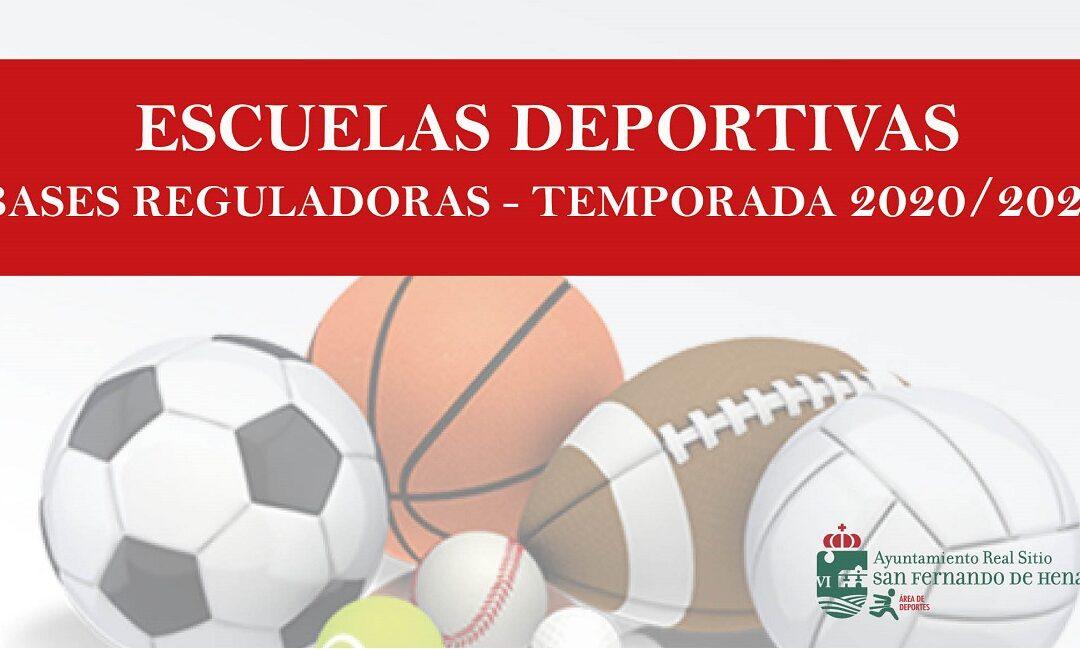 Bases reguladoras para la selección de proyectos de Escuelas Deportivas