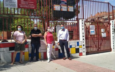 Transcurren a buen ritmo las obras estivales del 'I Plan Municipal de Mejora y Acondicionamiento de Centros Educativos'