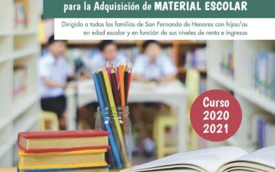 Arranca el plazo de solicitud del 'I Plan Municipal de Ayudas a las Familias para la Adquisición de Material Escolar – Curso 2020-2021'