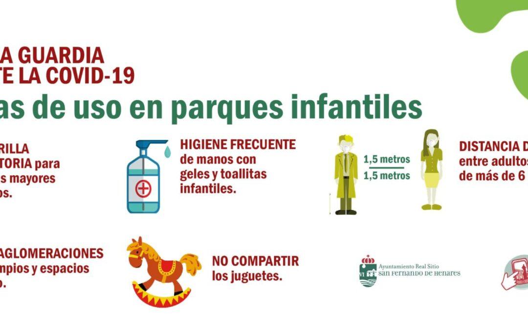 El Ayuntamiento de San Fernando de Henares reabrirá los parques infantiles el próximo viernes