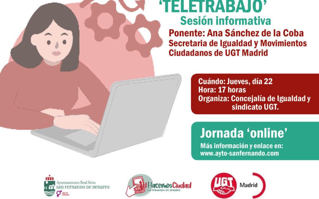 El área de Igualdad pone en marcha una sesión informativa sobre 'Teletrabajo'