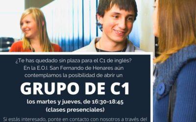 Inscripciones grupo C1 de inglés en la Escuela Oficial de Idiomas