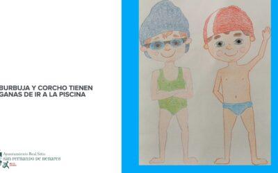 El área de Deportes presenta un vídeo explicativo sobre las medidas 'anticovid' elaborado a través de dibujos de tres alumnos/as de las clases de natación