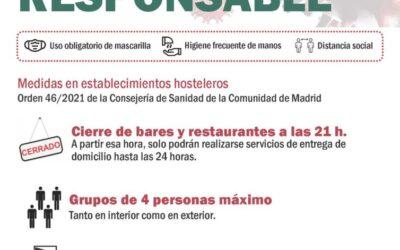 Campaña informativa sobre medidas contra la COVID-19 para la hostelería