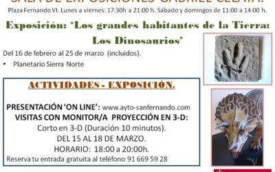 Abre sus puertas la exposición 'Los grandes habitantes de la Tierra: los dinosarios', que podrá visitarse hasta el próximo día 25 de marzo bajo estricto protocolo anticovid