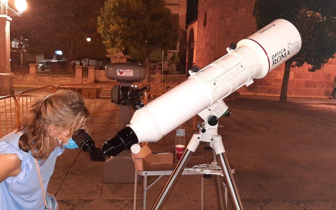 Nueva sesión de astronomía y observaciones con el telescopio