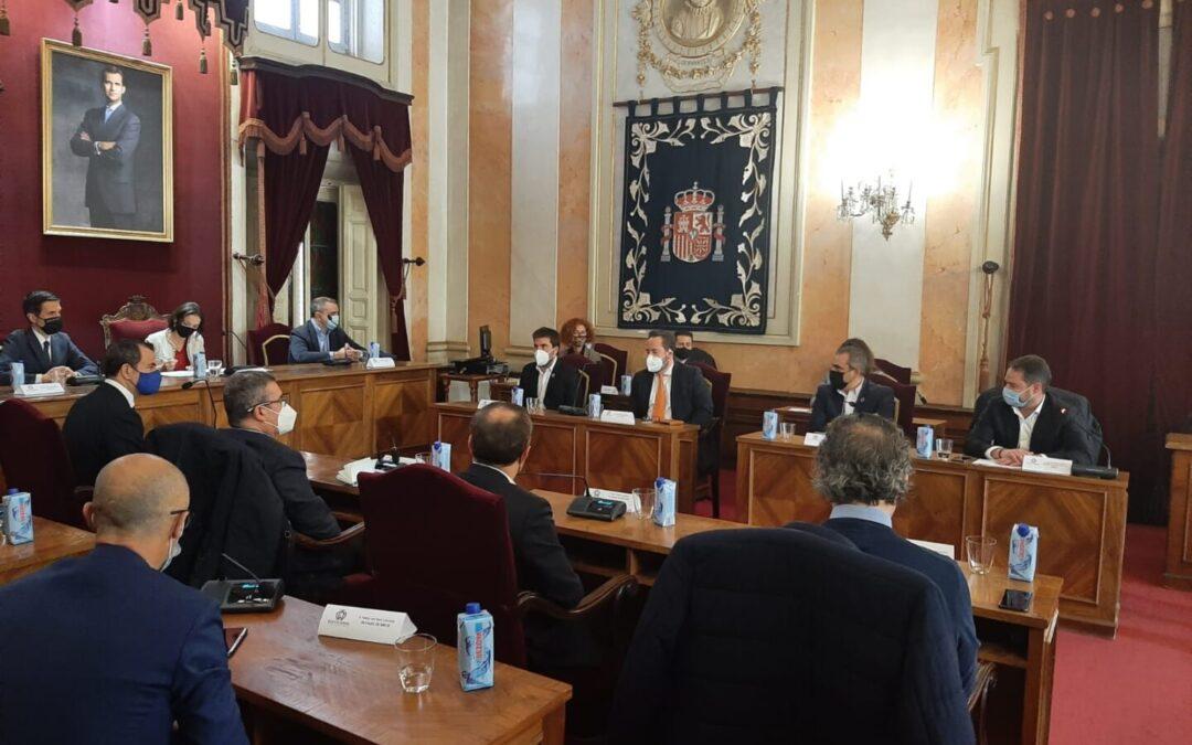 El alcalde, Javier Corpa, participa en una reunión con la ministra de Industria, Comercio y Turismo, Reyes Maroto, y el delegado del Gobierno, José Manuel Franco