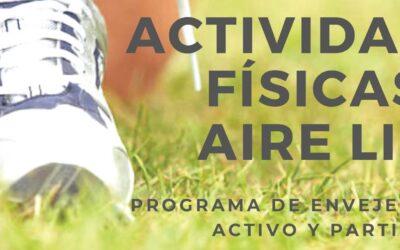 La Concejalía de Mayores pone en marcha un nuevo programa de actividades al aire libre para el colectivo