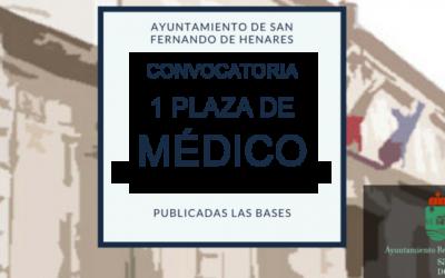 Convocatoria libre designación de un médico para el programa de salud sexual y reproductiva/promoción de la salud
