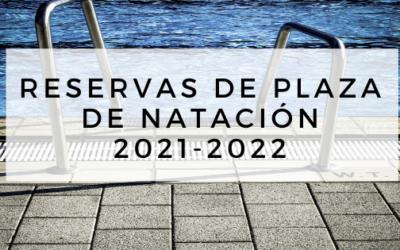 Reserva de plaza de natación: abierto el plazo de preinscripción temporada 2021-2022