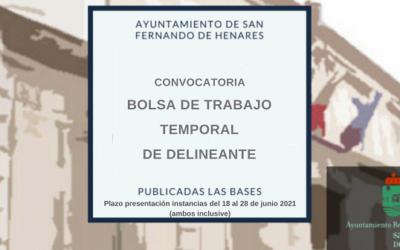 Lista provisional de admitidos y excluidos bolsa de Empleo de trabajo temporal de Delineante – Plazo reclamaciones desde el 08/10/2021 hasta el 22/10/2021 (A/I)