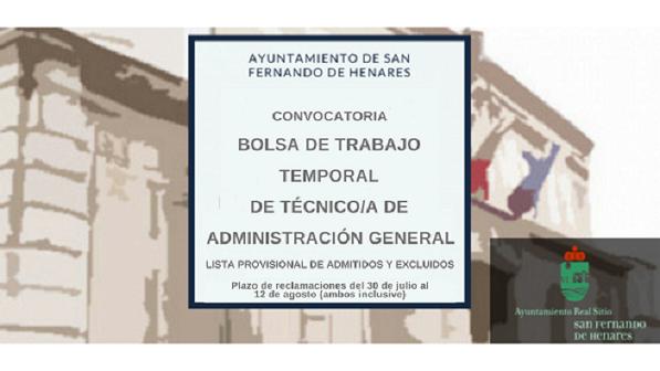 Corrección Decreto Formación Bolsa Temporal TAG