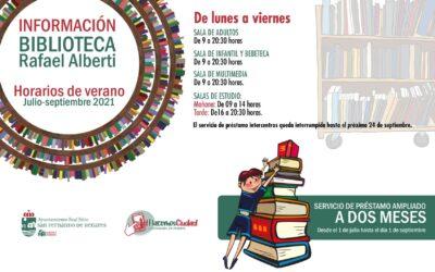 NOTA INFORMATIVA: Horario de verano en la Biblioteca Municipal 'Rafael Alberti'