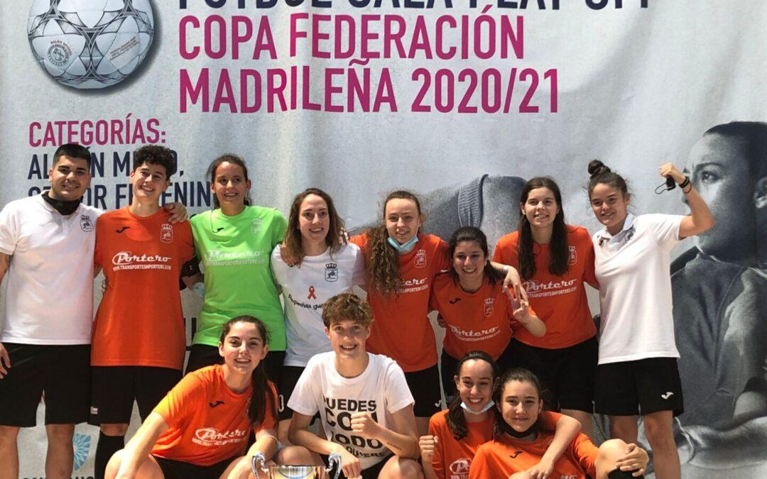 Las chicas de primera regional del Club de Fútbol Sala Femenino conquistan el título de campeonas de la Copa de la Comunidad de Madrid