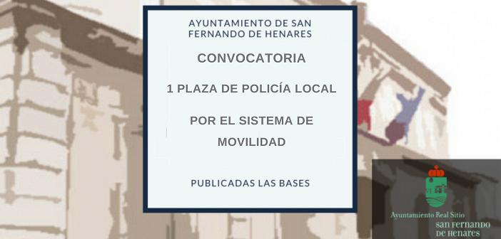 Convocatoria para la provisión de una plaza de policía local por el sistema de movilidad sin ascenso