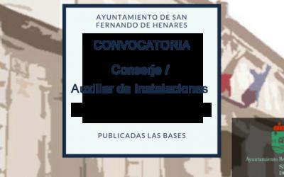 Bases para la selección y contratación temporal de Conserje / Auxiliar de Instalaciones de entre los Demandantes de Empleo