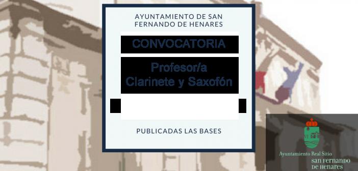Comisión de Valoración para la contratación temporal de Profesor/a de clarinete y saxofón de entre los Demandantes de Empleo