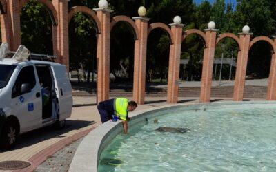 La Concejalía de Mantenimiento de la Ciudad emprende un programa para la limpieza, conservación y desinfección de fuentes ornamentales del municipio