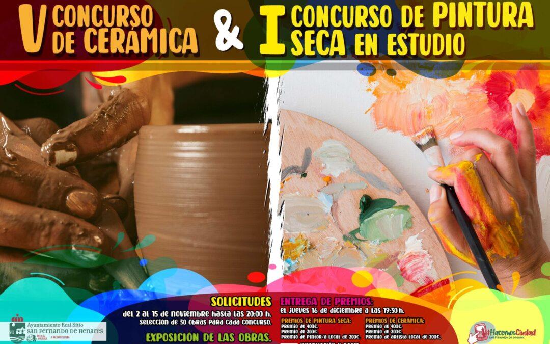 Arte en San Fernando de Henares: Bases del I Concurso de Pintura Seca en Estudio y V de Cerámica